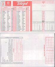 TOTOGOL SCHEDA N.3 A 30 PARTITE N.B. PRIMA USCITA A LIVELLO NAZIONALE 25 9 1994