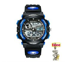 SNOOPY Men Military Watch Waterproof WristwatchDUAL DISPLAY LED Quartz  Sport...