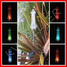 1 Piece Solar Powered Lighthouse Garden Yard Stake Pathway Lawn Light LED Sun i