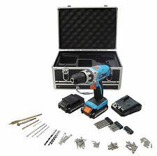 Perceuse visseuse sans fil batterie 14.4V avec valise aluminium + 77 accessoires