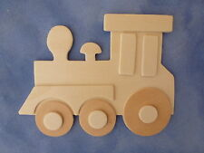 SUPPORT A DECORER  TRAIN en bois naturel 11 cm