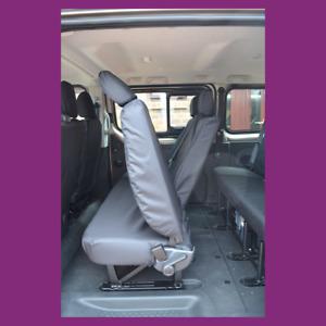 Vauxhall Vivaro Minibus 14-19 Rear 2nd Row Black Tailored Waterproof Seat Covers