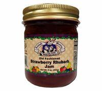 Amish Made Strawberry Rhubarb Jam- 9 oz - 2 Jars - FREE SHIPPING