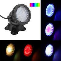 RGB LED Unterwasserstrahler Aquarium Beleuchtung Garten Teichlampe Brunnen Lampe