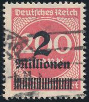 DR 1923, MiNr. 309 A P a Y, echt gestempelt, gepr. Oechsner, Mi. 450,-