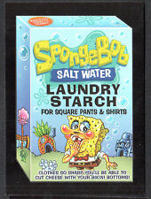 WACKY PACKAGES 50th ANNIV Topps 2017 RED LUDLOW BACK CARD Spongebob (#19/25)