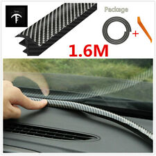 1.6m Carbon Fiber Rubber Soundproof Sealing Strip For Car Dashboard Gap Filling