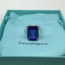 Tiffany & Co. 925 Sterling Silver Cocktail Amethyst Sparkler Ring Size 6
