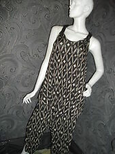FUNKY * GEORGE * BLACK / WHITE HAREEM PANTS AND FLOATY VEST TOP SIZE 10 + 12