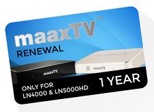 Maaxtv ln4000/Maaxtv ln5000hd IPTV estensione per 1 anno