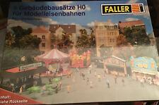 Faller Set Dorfkirmes, 5 Gebäudebausätze, Spur H0, neu+ ovp, + Faller Motor