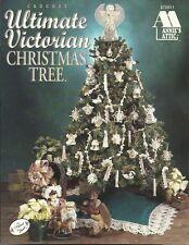 Ultimate VICTORIAN Christmas Tree Crochet Pattern Book Ornaments Skirt Angel NEW