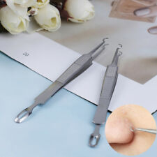 Facial Extractors Blackhead Acne Blemish Removertweezers Bend Curved NeedleWLB