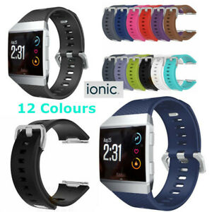 for Fitbit Ionic Replacement Band Secure Strap Wristband Metal Buckle Tracker