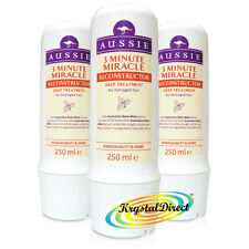 3x Aussie 3 Minute Miracle Hair Reconstructor Deep Treatment Conditioner 250ml