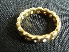925 Silberring vergoldet. Größe 55/56. Mit Glitzersteinen