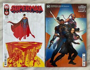 SUPERMAN SON OF KAL-EL #2 - Cover A + C   JOHN TIMMS   NM   DC COMICS 2021