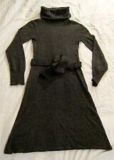 Vestido, h&m, talla xs, colores antracita, 75% acrílico, 25% lana