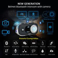 500M Bluetooth Motorcycle Camera Helmet Interphone Intercom G5 Headset 4 Riders