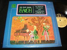 BACH°SIX SONATAS FOR FLUTE<>J.P. RAMPAL<>Lp Vinyl°US Pressing°NONESUCH H-71034