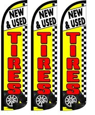 New and Used Tires Alignment Here King Swooper Flag w//Kit Pack of 2