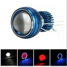 "2.75"" Motorcycle LED Projector High/Low Beam Headlight CCFL Angel Demon Eyes"