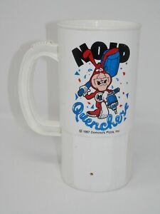 Vintage Dominos Pizza NOID Quencher Plastic Mug - 1987 Promo Cup Avoid the