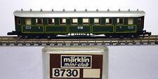 Märklin Z miniclub 8730.2, Reisezugwagen CCÜ 3. Kl. K.Bay.Sts.B. in OVP /J680