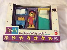 mattel 66753 pooh bedtime with pooh collectible new in box