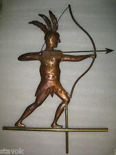 Antique Native American Indian Bow Arrow Copper Weathervane Free Shipping!