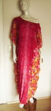 Magnificent Dress Pleated Red Floral for the Beach or Evening One Size 38-42