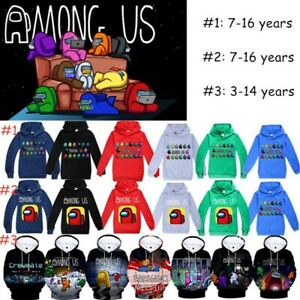 Among Us Game For Kids Hoodies Sweatshirt Funny Crewmate Hooded Tops Clothes