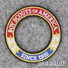 "Boy, Cub, Webelo, Venturing Scouts World Crest Ring Patch ""Since 1910"" BSA"