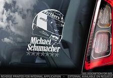 Michael Schumacher-F1 Finestra Auto Adesivo-FORMULA 1 CASCO FERRARI SCHUMI TYP3