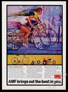 1973 AMF Hot Seat 3-wheel bike kids' Sling Roadmaster Pacemaker vintage print ad