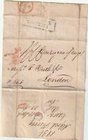 1836 CAERA BRAZIL TO HUTH LIVERPOOL SHIP & RED CROWN/EXEMPT SHIP LR 'PER ALERT'