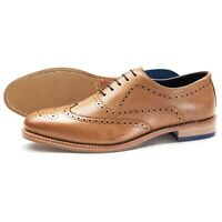 Samuel Windsor Mens Tan Shoes Whitworth Leather Brogue Lace-up Size 5 - 14 NEW