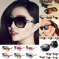 Moderno Mujer Grande Diseñador Gafas de Sol Retro Marco