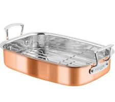 Chasseur Escoffier Roasting Pan W Rack 35 X 26 Copper Steel Roaster