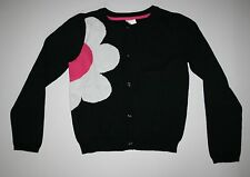 New Gymboree Black Daisy Flower Button Cardigan Sweater Size 5 6 year Daisy Park