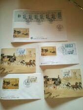 Timbres enveloppes avec 5 timbres