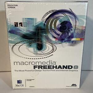 NIB! MacroMedia Freehand 8 Graphics Studio for Mac OS- Education Version