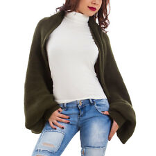 Shrug woman knitted sweater multiple solution jersey cuffs new CS-1728