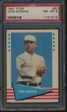 1961 Fleer #60 John McGraw HOF  PSA 8  NMMT 53199