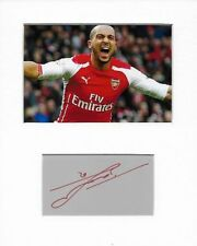 More details for theo walcott arsenal genuine authentic autograph signature and photo aftal coa