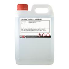 Calidad alimentaria el peróxido de hidrógeno 6% 5 litros (5L) ** envío rápido **