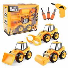 Take Apart Toys Set - Construction Trucks - Bulldozer with 3 attachments