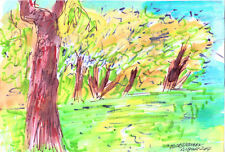 """""""AUGUST """" by Ruth Freeman WATERCOLOR ON PAPER 7 3/4"""" X 11 1/4"""""""
