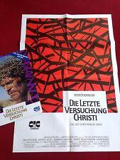 Die letzte Versuchung Christi Videoplakat Poster A1, Willem Dafoe, David Bowie