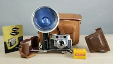 Vintage Kodak Signet 35 Classic Camera Kodachrome II 35mm Flash bulb Manual case